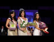 The Royal Court - Queen Hiba Hamadi, 1st Runner-Up Noor Ghssoub, and 2nd Runner-Up Mireille Nasr.